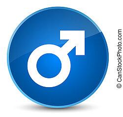 Male sign icon elegant blue round button