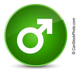 Male sign icon elegant green round button