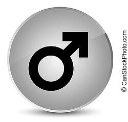 Male sign icon elegant white round button