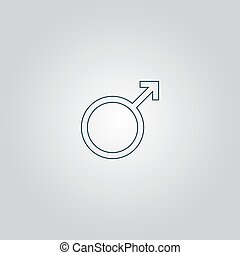 Male sign icon.