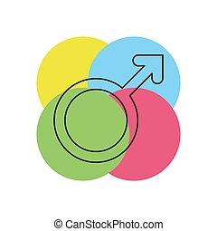 Male sign icon. Male symbol