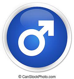 Male sign icon premium blue round button