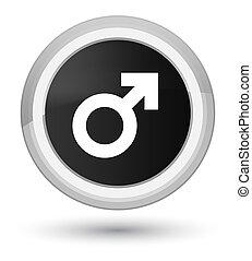 Male sign icon prime black round button