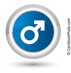 Male sign icon prime blue round button
