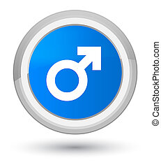 Male sign icon prime cyan blue round button