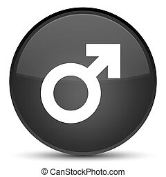 Male sign icon special black round button