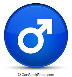 Male sign icon special blue round button