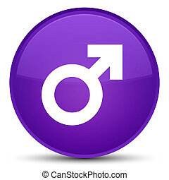 Male sign icon special purple round button