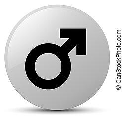 Male sign icon white round button