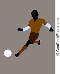 Male Soccer Player Illustration Silhouette