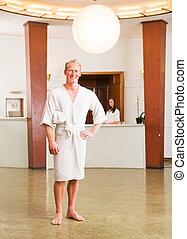 Male Spa Reception Portrait