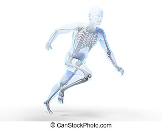 Male sprinter - 3d rendered illustration - sprinter