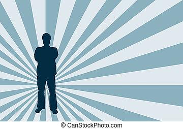 Male stance - Male silhouette