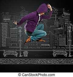 dance like michael - male street dancer, dance like michael...
