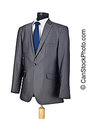 Male suit isolated on the white