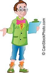 Male Supervisor, illustration