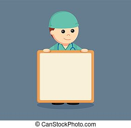 male surgeon with empty board