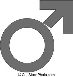 Male symbol icon in grayscale.
