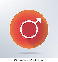Male symbol icon.