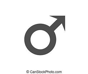 Male symbol in black