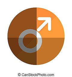 male symbol isolated icon