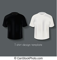Male T-Shirts Design Template Set