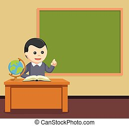 male teacher in class room