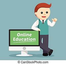 male teacher online education