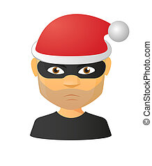 Male thief avatar wearing a santa hat