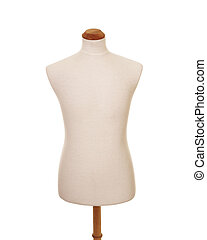 male torso mannequin - front view of male torso mannequin on...