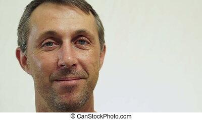 Male USA Passport Portrait Closeup