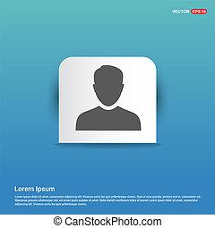 Male User Icon - Blue Sticker button