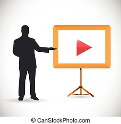 male video presentation illustration