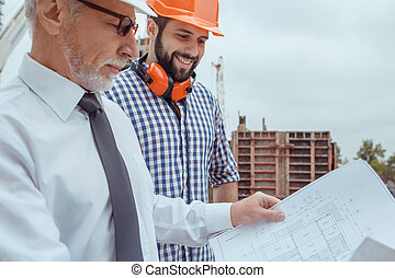 Male work building construction engineering occupation project