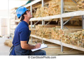 male worker in warehouse