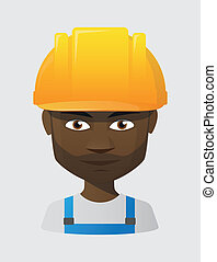 male worker with a helmet