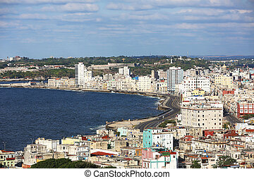 Malecon Havana Cuba - the Malecon, Avenida de Maceo, is a ...