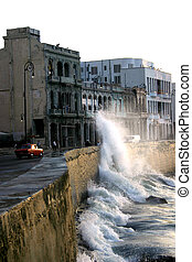 Malecon Havana - El Malecon de Havana; the famous Havana,...