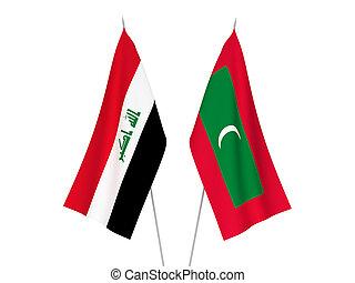 malediwy, irak, bandery
