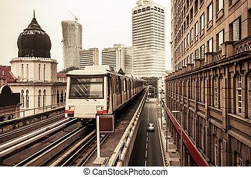 maleisië, trein, lumpur, metro, kuala