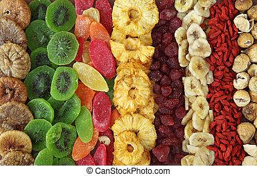 malen, vermalen, droog, vruchten