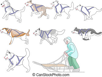 malen, vermalen, musher, honden, lucifer, n