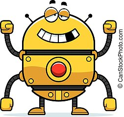 Malfunctioning Gold Robot