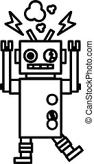 malfunctioning robot icon symbol