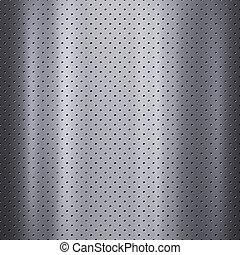 malha, metal, ou, fundo, textura