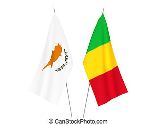 Mali and Cyprus flags - National fabric flags of Mali and ...