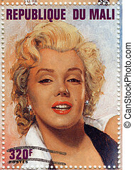 MALI - CIRCA 1996 : stamp printed in Manli showing Marilyn ...
