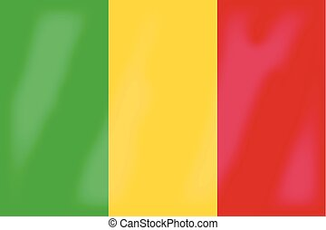 Mali Flag - The flag of the African country of Mali