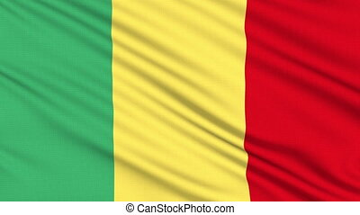 Mali flag, with real structure of a fabric