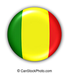 Mali Flag - World Flag Button Series - Africa - Mali (With ...